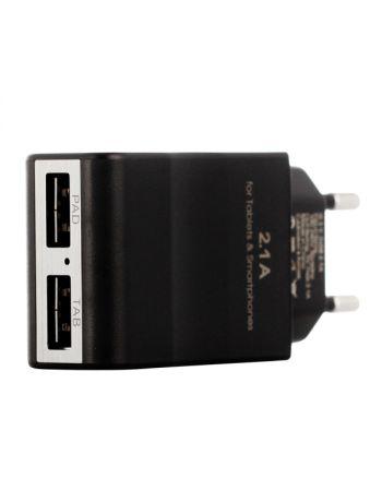 Сетевое зарядное устройство для Apple InterStep 2 USB 2.1A + кабель Lightning